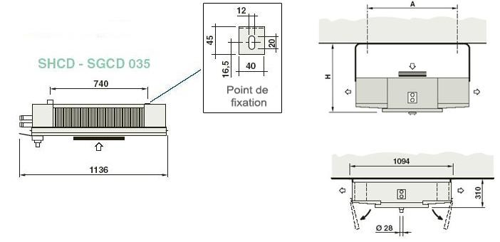 u00c9vaporateur de plafond commercial pale 350mm mod u00e8le shcd 035  1 s6