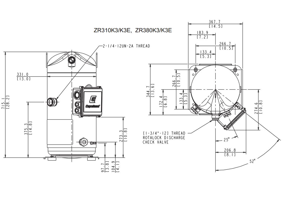 Compresor Scroll Copeland Zr380 Kce