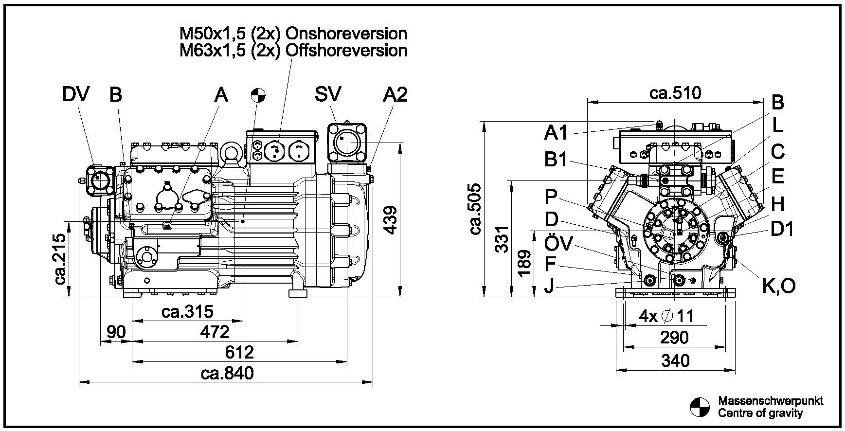 compresseur semi 830