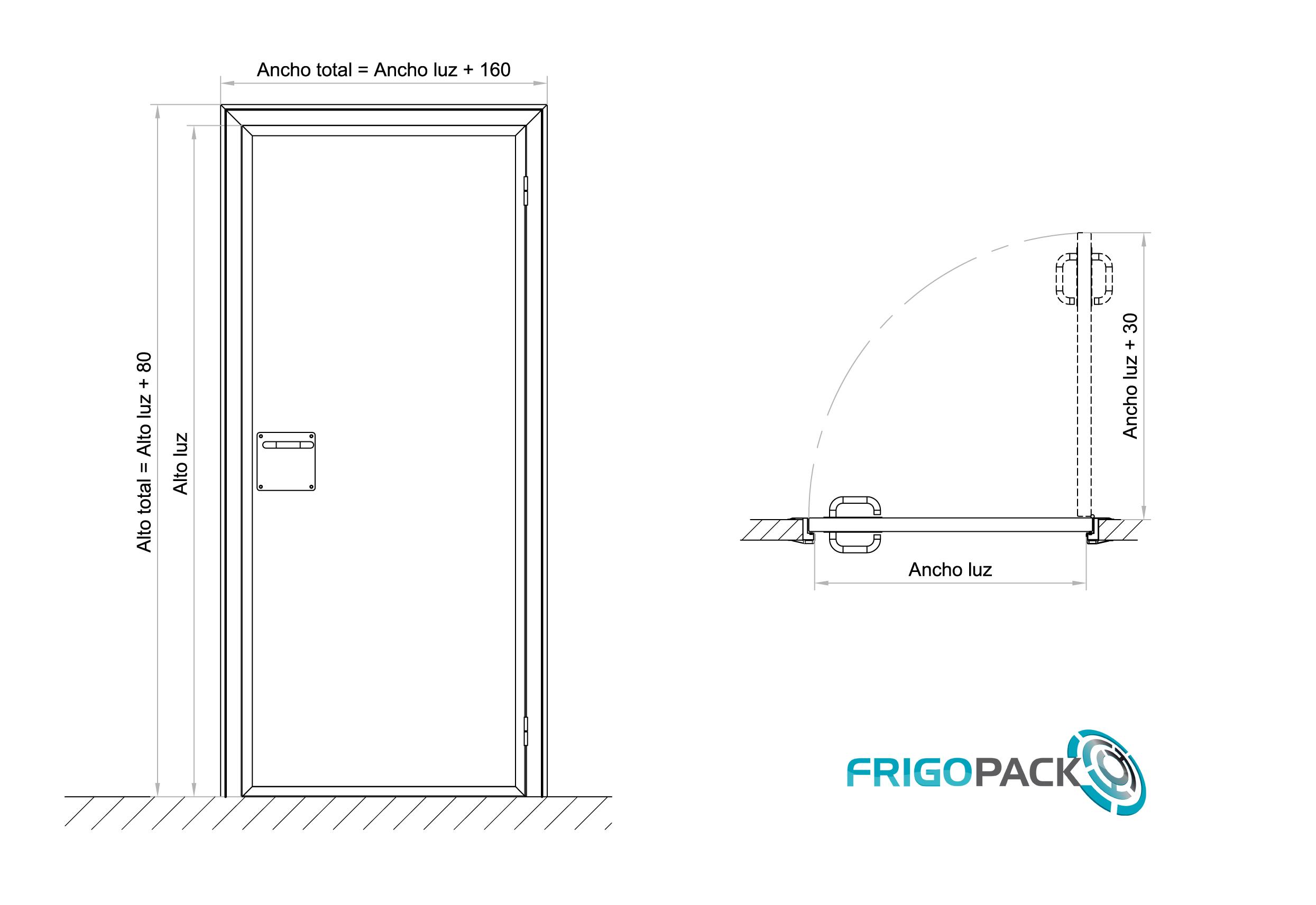 Puerta de Servicio Pivotante 1 Hoja SN01 Sin Marco (Industrial)